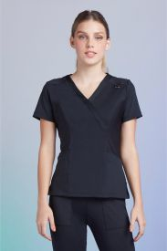 Camisa Feminina Scrub Tech Black
