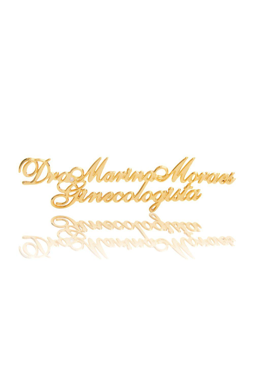 Broche Personalizado Banhado a Ouro para Jaleco