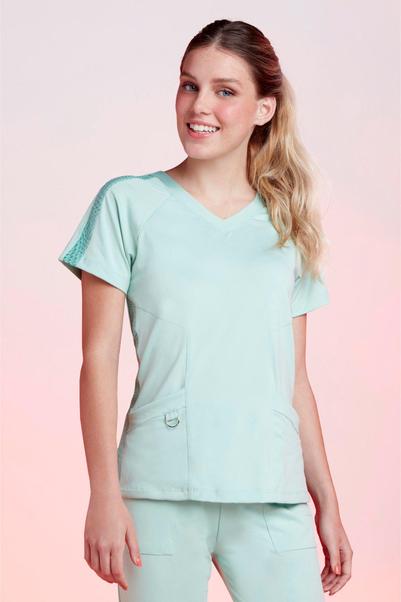 Camisa Feminina Scrub Tech Sálvia