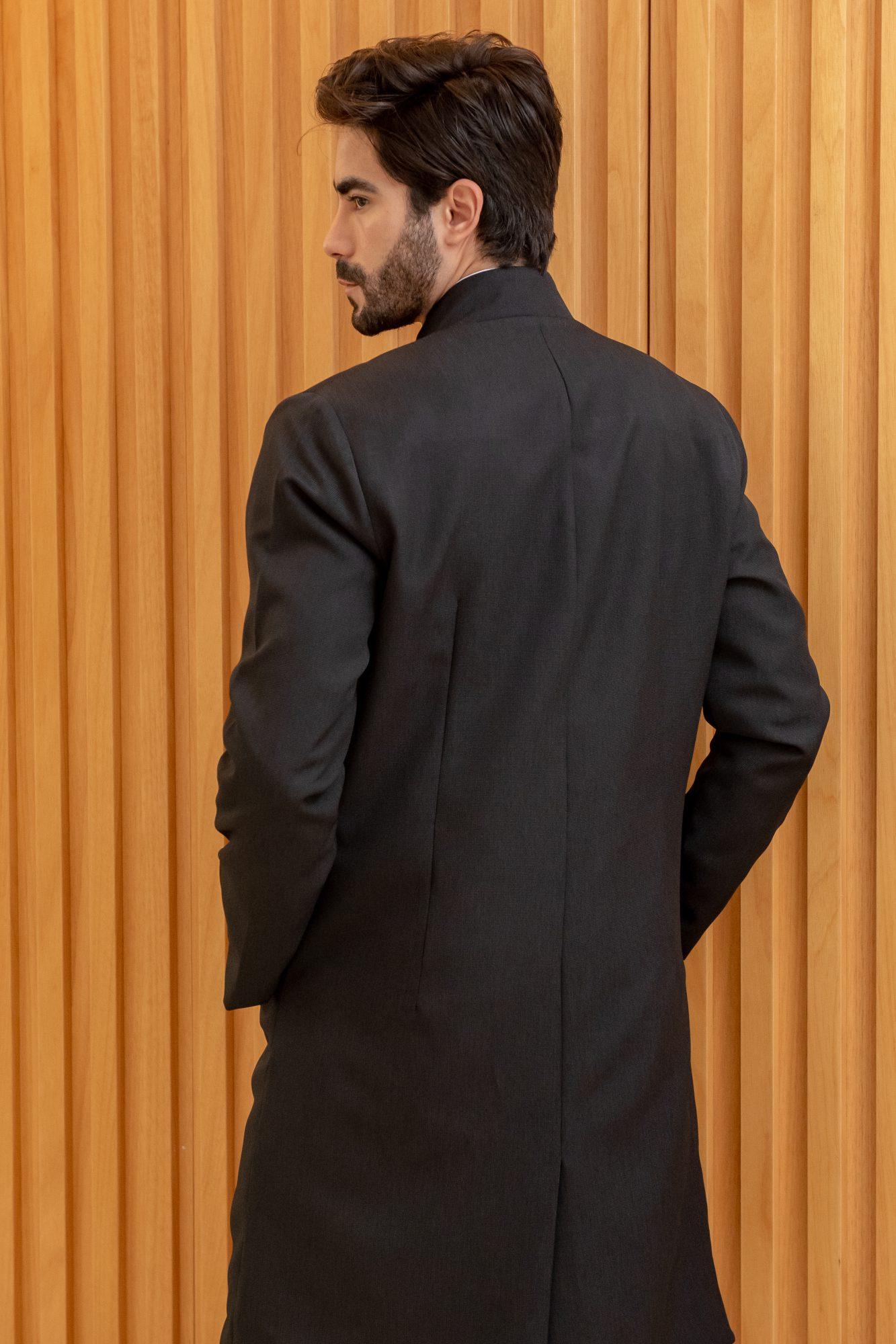 Jaleco Masculino Michael com Ziper Black