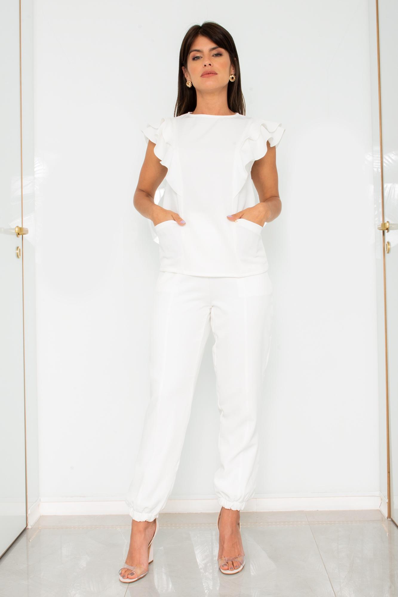 Scrub Feminino Carolina Off White