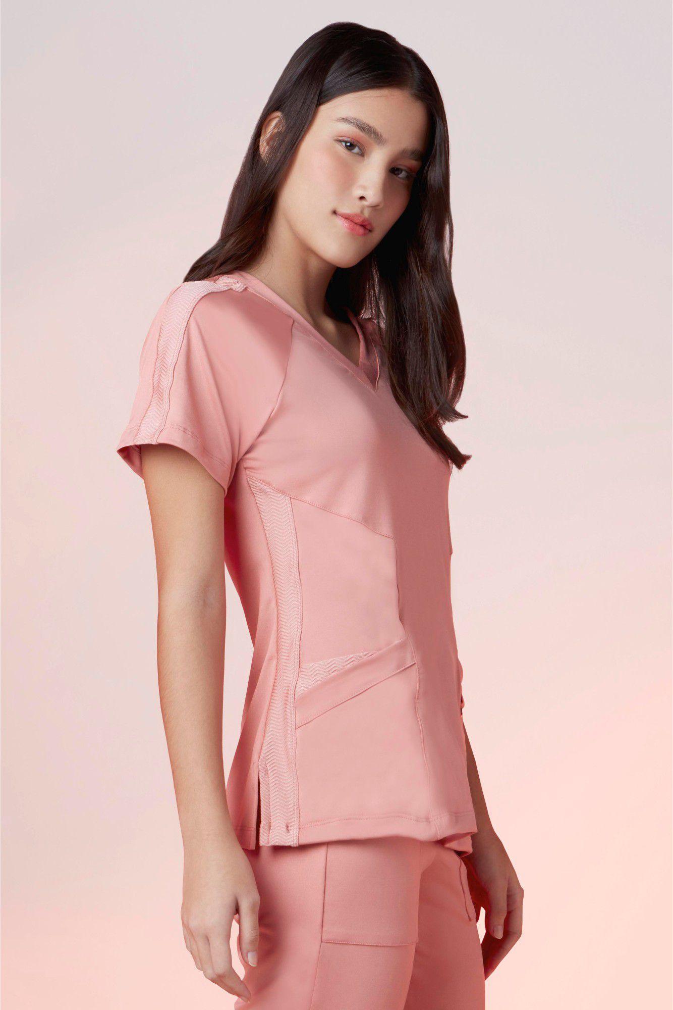Camisa  Feminina Scrub Freedom Rosé