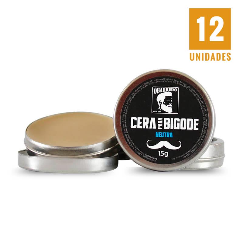 Cera para bigode 15gr - 12 unidades