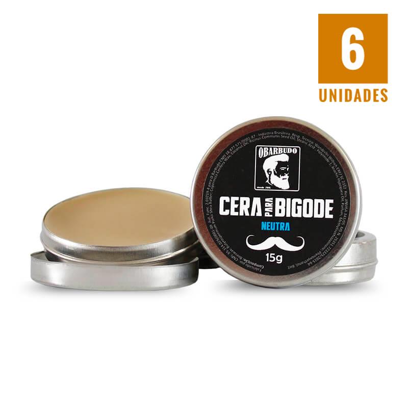 Cera para bigode 15gr - 6 unidades