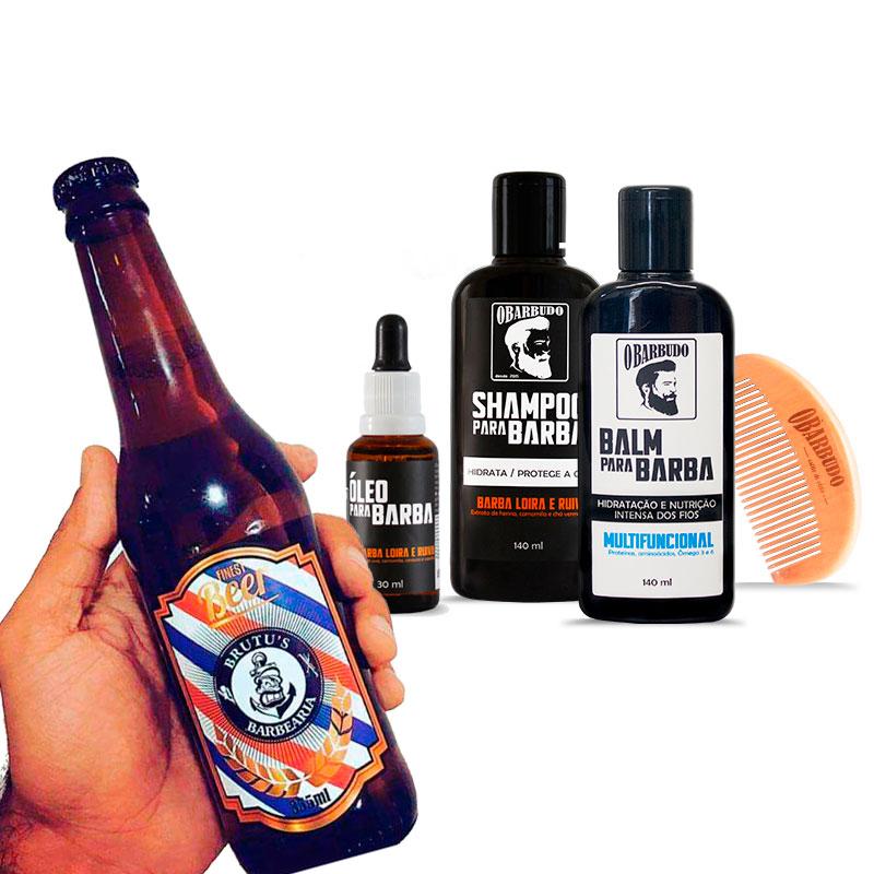 [Edição Limitada] Combo Barba Loira e Ruiva - Grátis Cerveja Artesanal Brutu's
