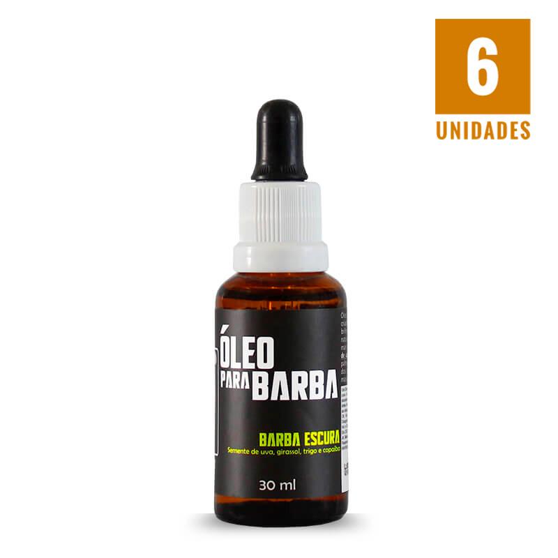 Óleo para barba escura 30ml - 06 unidades