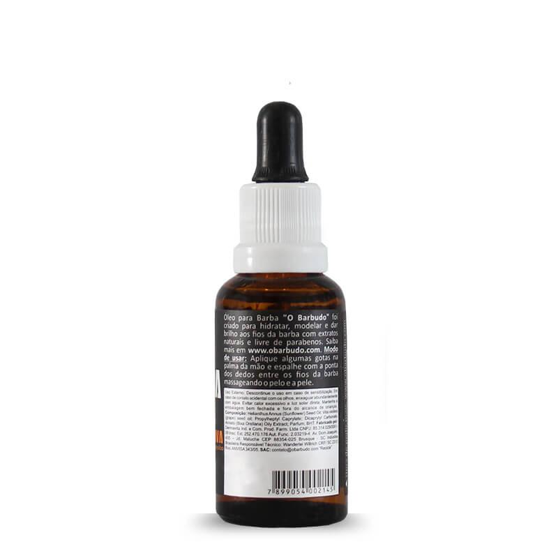 Óleo para barba loira e ruiva 30ml - 06 unidades