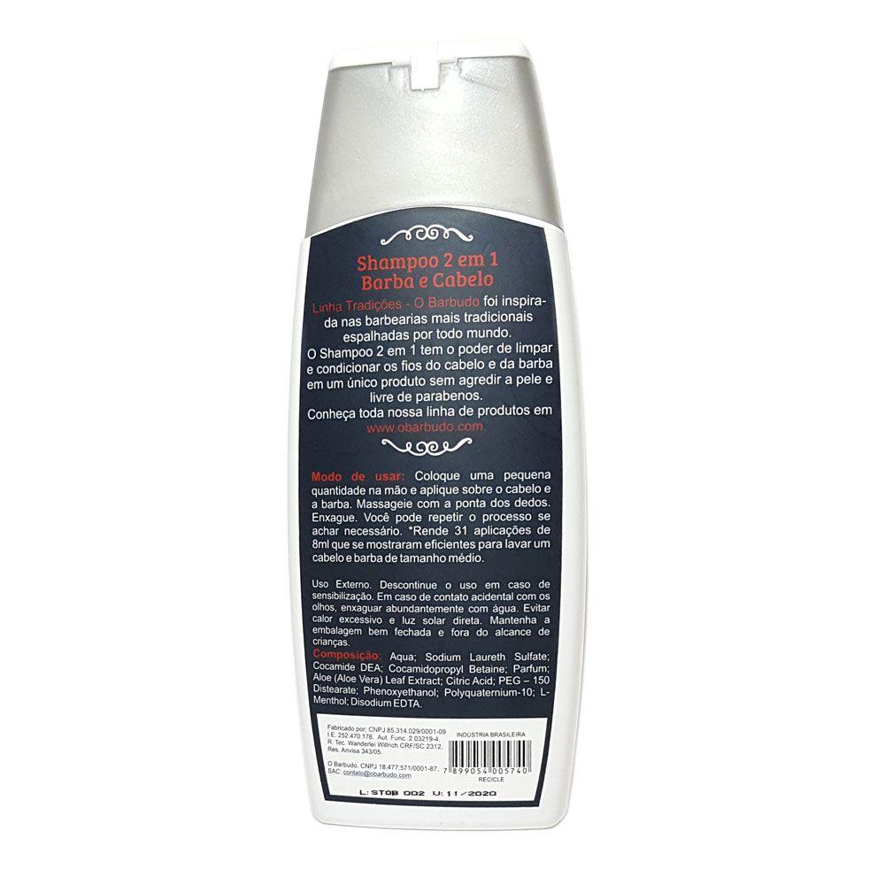Shampoo para Barba e Cabelo 250ml - Linha Tradições