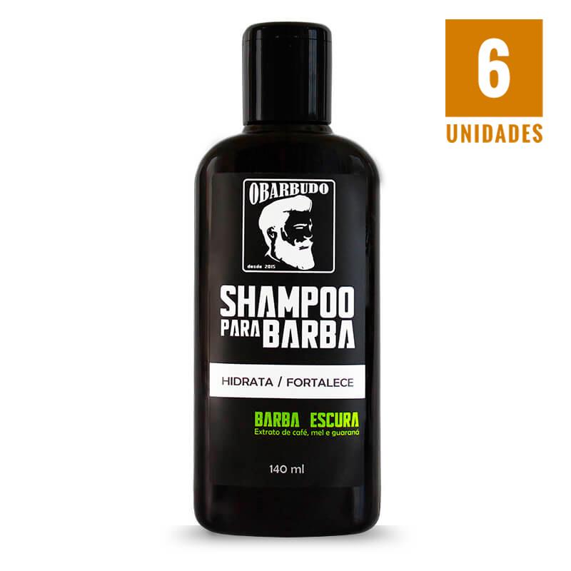 Shampoo para barba escura 140ml - 06 unidades