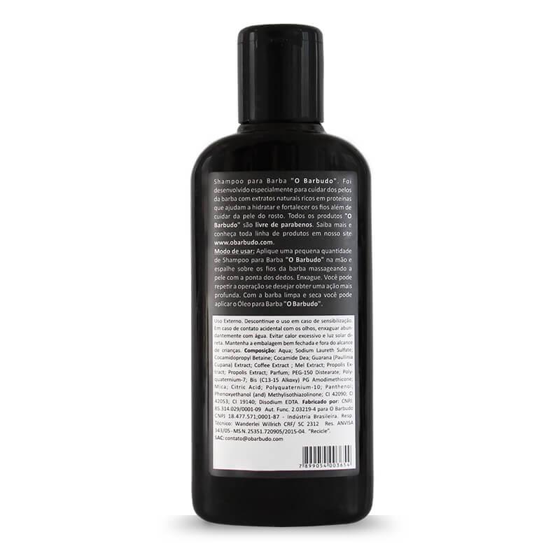 Shampoo para barba escura 140ml - 12 unidades