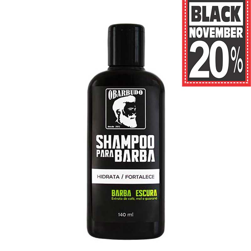 Shampoo para barba escura 140ml