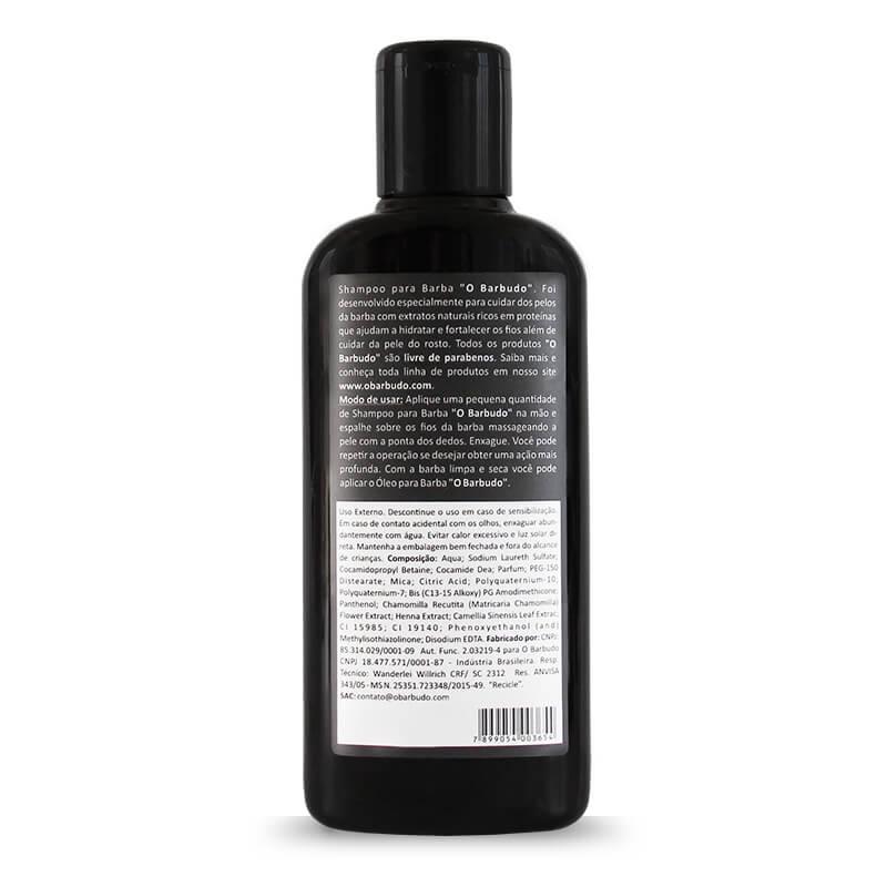 Shampoo para barba loira e ruiva 140ml - 06 unidades