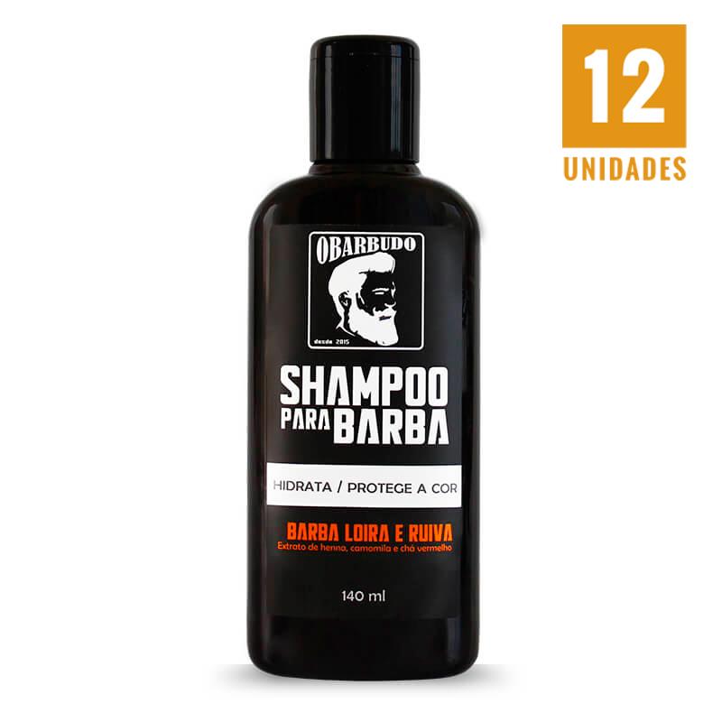 Shampoo para barba loira e ruiva 140ml - 12 unidades