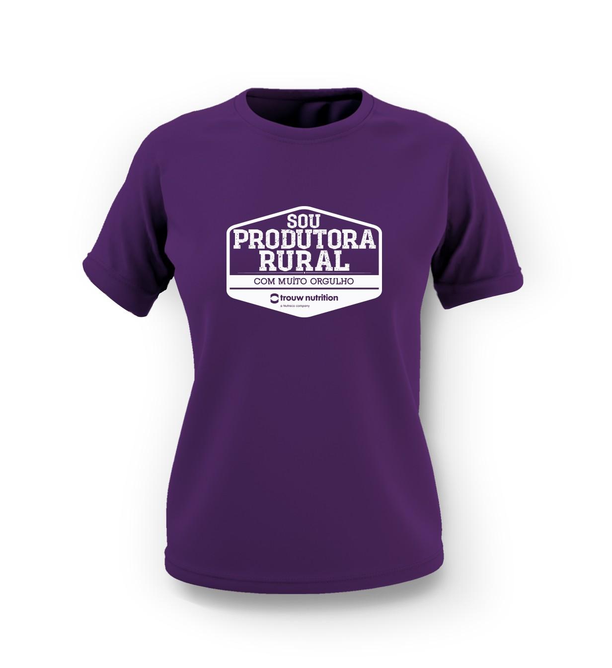 Camiseta Feminina Roxa