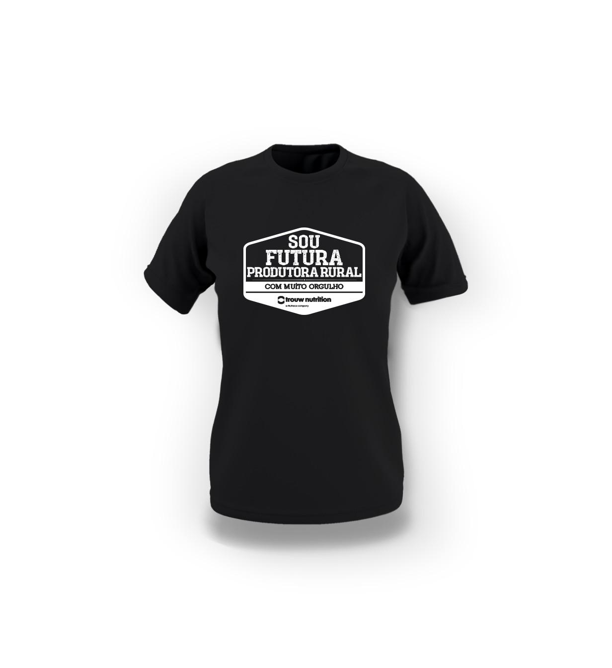 Camiseta Infantil Feminina Preta