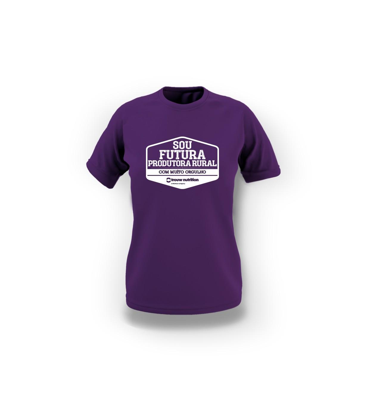 Camiseta Infantil Feminina Roxa