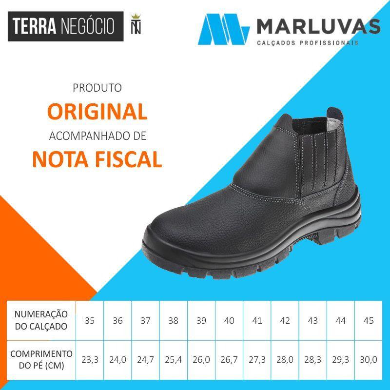965a020ae4f68 Botina EPI Couro Bico Plástico Marluvas Safety Flex 11SFB48 - TERRA NEGÓCIO