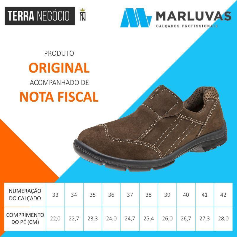 e416eea73bceb Sapato Tênis Ocupacional Couro Nobuck Marluvas 50F61 TAUPE