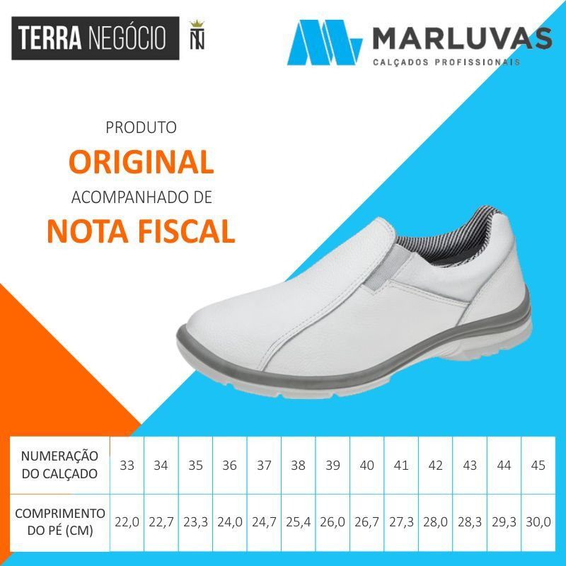 4d384bffb9296 ... Sapato Tênis Ocupacional Couro Branco Marluvas 50F61 SRV - TERRA NEGÓCIO