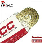 Corrente Transmissão 525 HO X 120 - GOLD Oring Retentor Com Emenda Rebite
