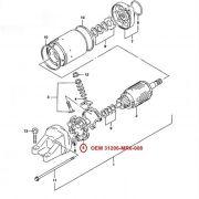 Escova de Arranque CBR1000F CBR1100XX CBR600 CBR900 HORNET 07 - OEM 31206-MR6-008