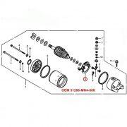 Escova de Arranque CBR600  1990 a 1998 - OEM 31206-MN4-008