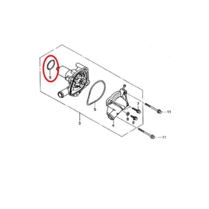 Anel de Vedação Bomba Água CB500 CB600F HORNET CBR600 CBR900 CBR1000 CBR1100XX
