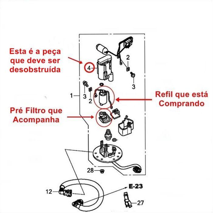 Bomba De Combustível Gasolina - Honda CB650F, CBR650F e NC700