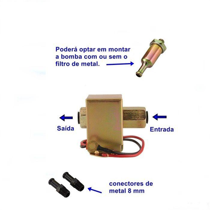 Bomba De Combustível Gasolina - Motos Carburadas - Universal