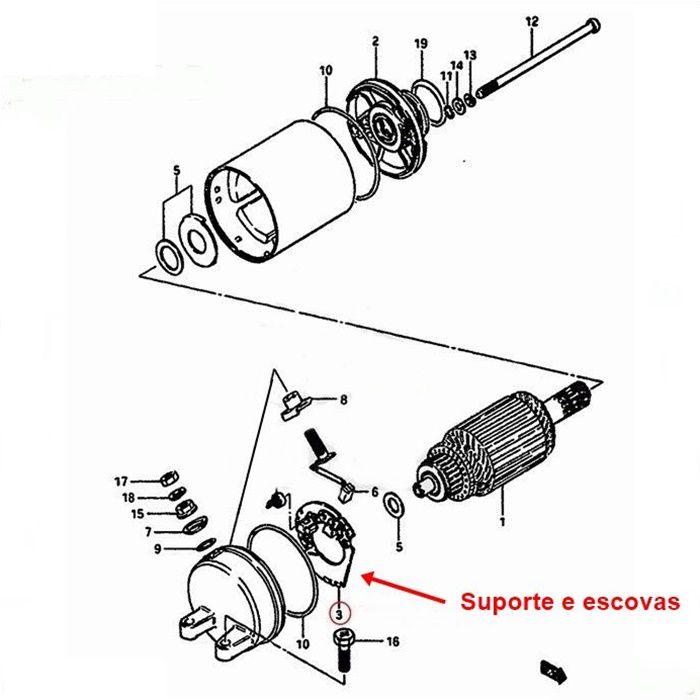 Escova de Arranque Burgman 650 até 2012 - OEM 31132-27A01