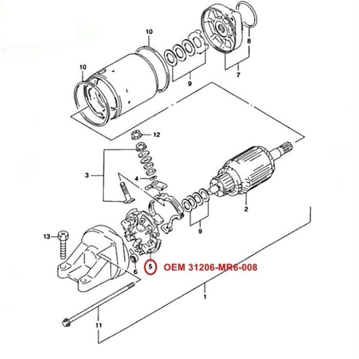Escova de Arranque GSXR1100W 89-92 - OEM 31132-38B00