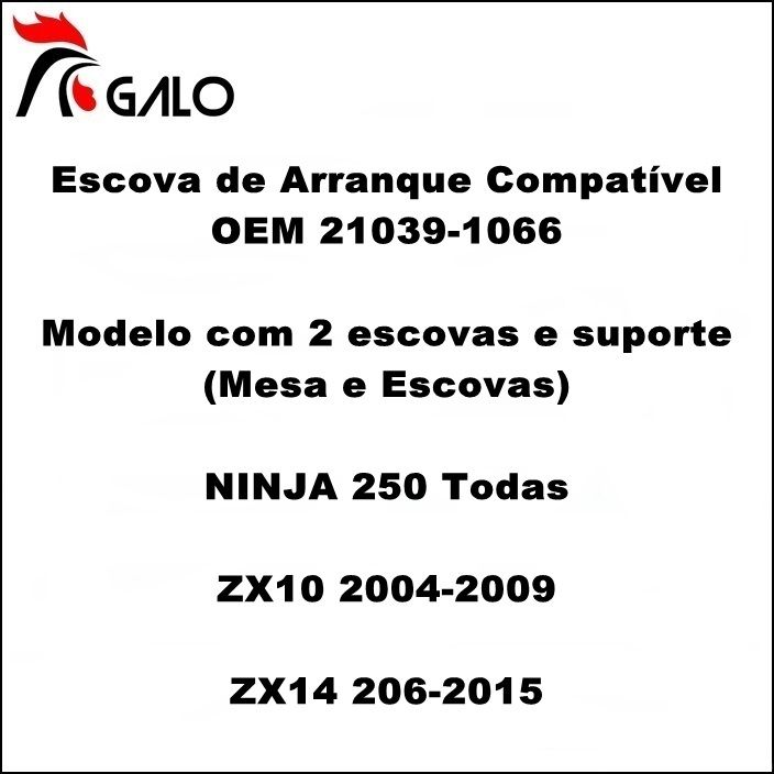 Escova de Arranque NINJA 250 ZX10 ZX14 - OEM 21039-1066