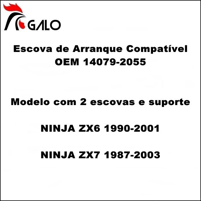 Escova de Arranque NINJA ZX6 90-01 ZX7 87-03 - OEM 14079-2055