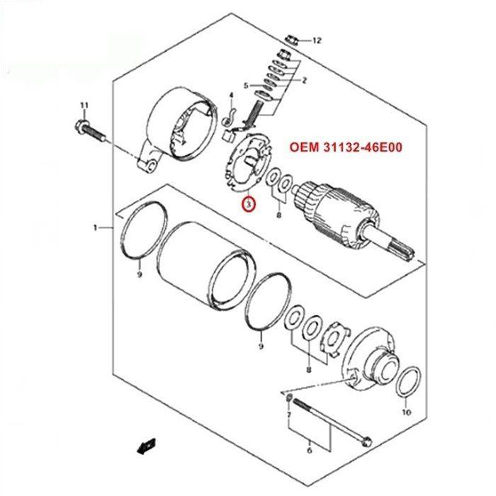 Escova de Arranque RF600  RF900 - OEM 31132-46E00