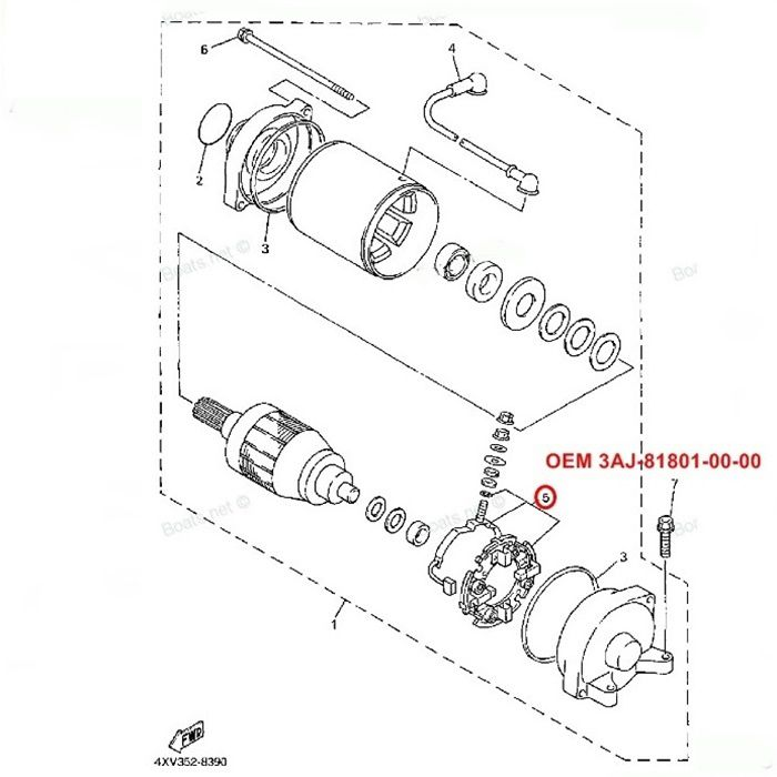 Escova de Arranque TDM 850 FJ 1200 YZF R1 - OEM 3AJ-81801-00-00