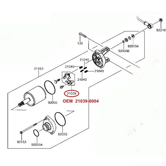 Escova de Arranque Versys 650 Ninja 650 ER6 - OEM 21039-0004