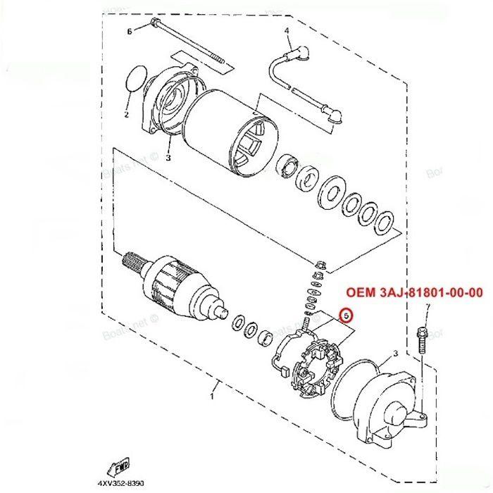 Escova de Arranque XT600 XT660 MT03 2008 660 - OEM 3AJ-81801-00-00