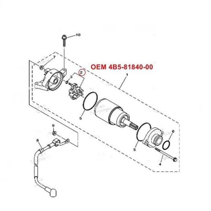 Escova de Arranque Yamaha XTZ1200 Super Tenere - OEM 4B5-81840-00