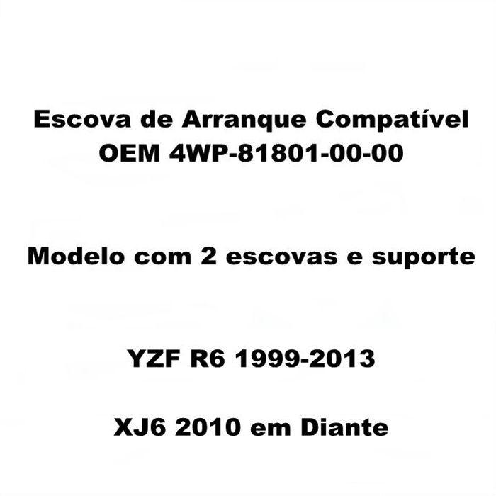 Escova de Arranque YZF R6 1999-2013 XJ6 2010... - OEM 4WP-81801-00-00