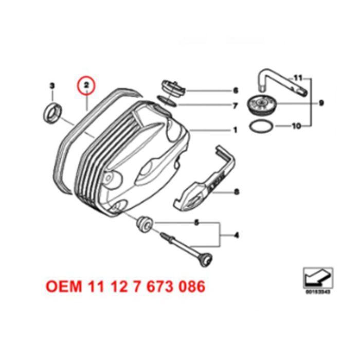 Guarnição Tampa Cabeçote - BMW R1200 R - 2005 A 2009 - 11127673086