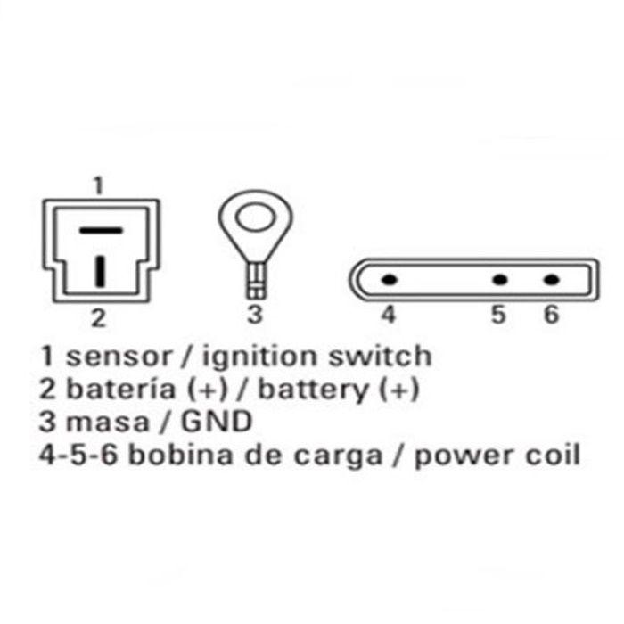 Regulador de Voltagem BMW F650 e F800 - 6 fios