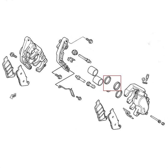 Reparo do Cáliper CB600 Hornet 00-13 NT700V 06-16 - Dianteiro