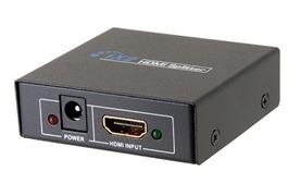 Divisor Hdmi 1 X 2 Hd 2 Saidas Multiplicador De Sinal 1080p