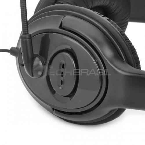 Fone De Ouvido Com Microfone Xbox 360 Headset Duplo Preto