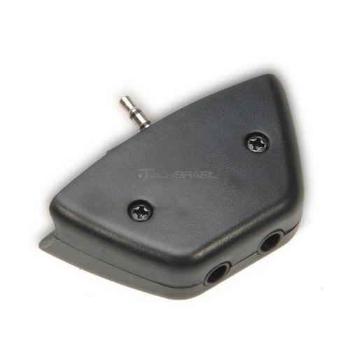 Adaptador Conversor Fone Ouvido E Mic Controle Xbox 360 Preto