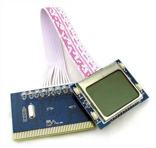Placa Diagnostico Pc Analyzer Visor Lcd Pti9 +de 600 Códigos