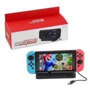 Base Suporte Carregador Nintendo Switch Play Stand + Cabo