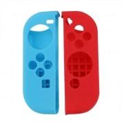 Capa Protetora Silicone Para Joy-con Nintendo Switch Azul e Vermelho