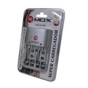 Carregador Mox Mo-cb738 Para Pilhas Aa/aaa/9v Bivolt 110-220