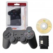 Controle Sem Fio Dualshock Playstation 2 PS3 PC Wireless